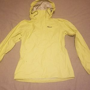 Marmot lime green rain jacket size small